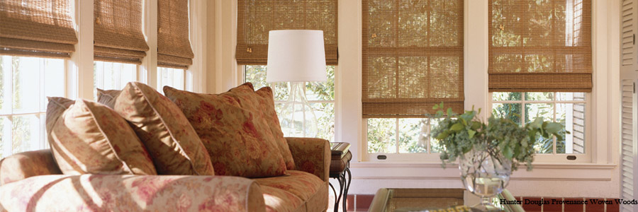 Woven Woods Window Shades.
